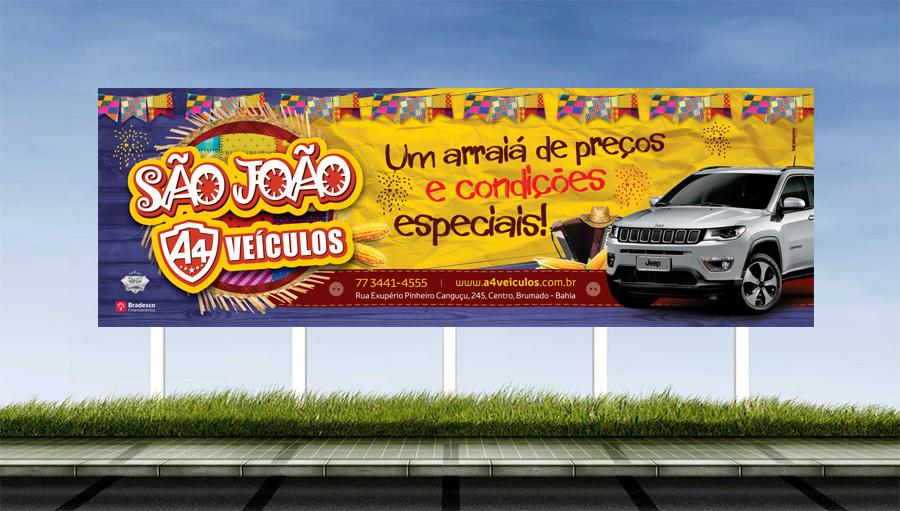 A4 Veículos - Criação da campanha para o São João. Brumado/BA