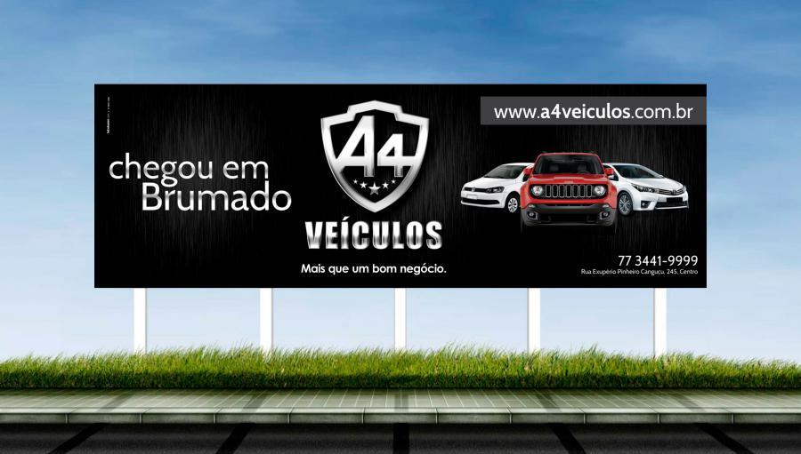 A4 Veículos - Criação do outdoor para a campanha inicial