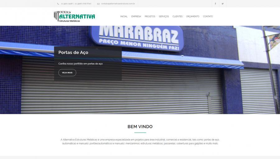 Alternativa Estruturas - Hospedagem e reformula��o em modo responsivo do site da Alternativa Estruturas - S�o Paulo/SP.