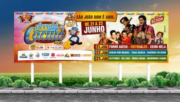 Arraiá de Caculé 2013 - Criação de outdoor, cartaz, bighand e panfleto para o evento.