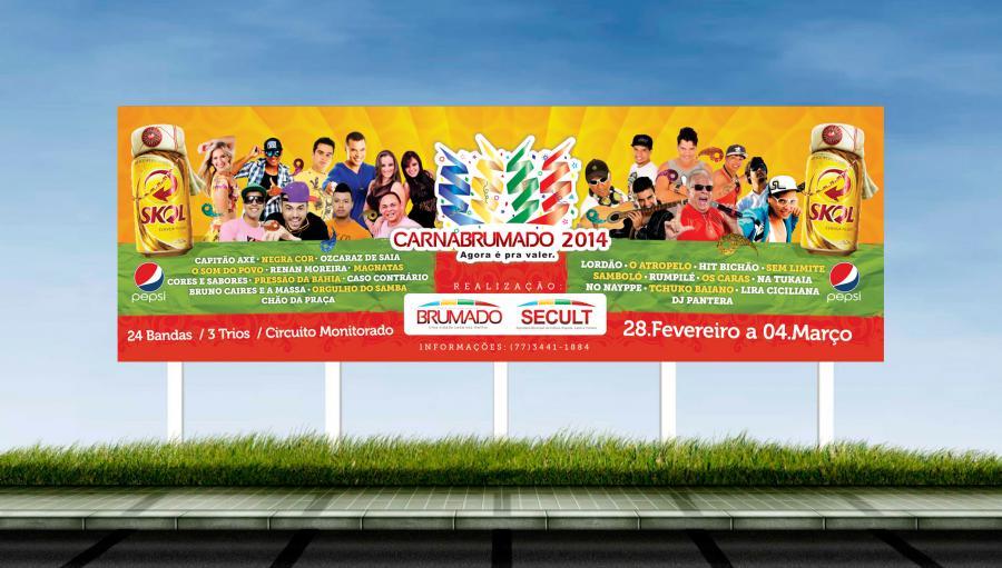 Carnabrumado 2014 - Criação de outdoor, cartaz, bighand, fechamento e panfleto para o evento.