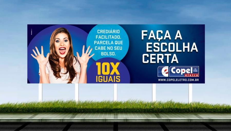 Copel Eletro - Criação do outdoor, cartaz e banner para campanha