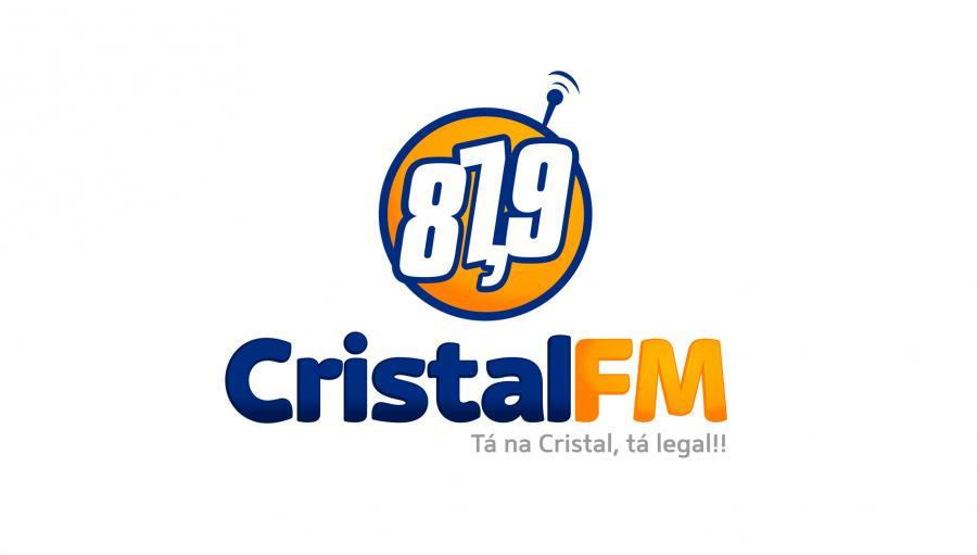 Cristal FM - Criação da marca da Rádio Cristal FM. Oliveira dos Brejinhos/BA