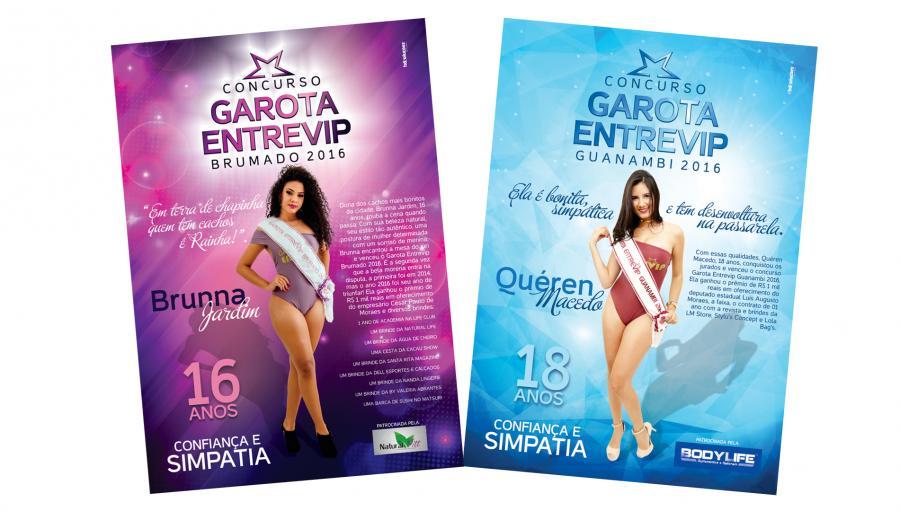 Garota Entrevip - Brumado e Guanambi - Cria��o das p�ginas da Garota Entrevip de Brumado e Guanambi para a revista Entrevip. Brumado/BA