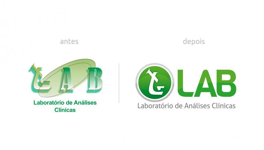 LAB - Laboratório de Analises Clínicas - Reformulação da marca doLAB - Laboratório de Analises Clínicas. Brumado/BA