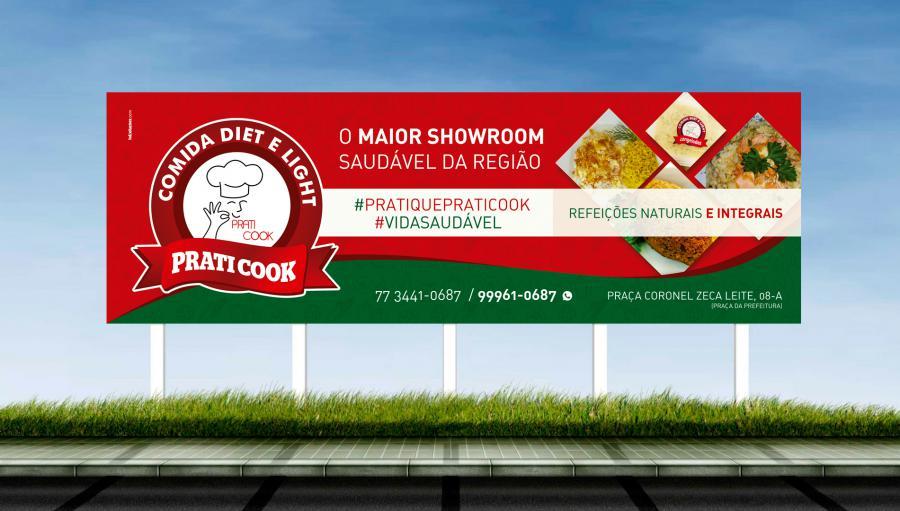 Praticook - Criação do outdoor para campanha inicial da loja de Brumado/BA