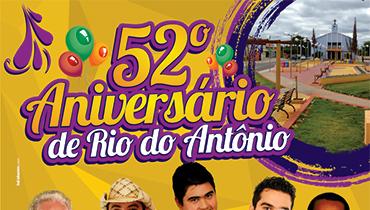 Aniversário de Rio do Antônio - Criação do cartaz para o 52º aniversário de Rio do Antônio.