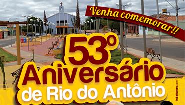 Aniversário Rio do Antônio - Criação do cartaz para o 53º aniversário de Rio do Antônio.